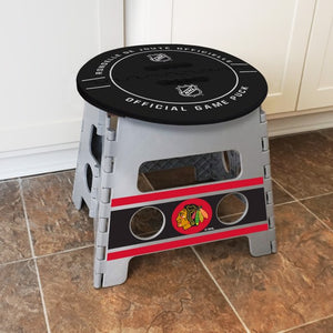 "NHL - Chicago Blackhawks Folding Step Stool 14"" x 13"""