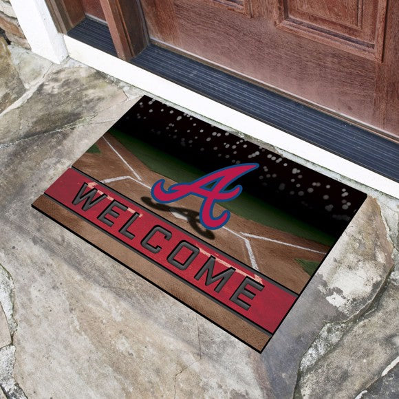 MLB - Atlanta Braves Crumb Rubber Door Mat 18
