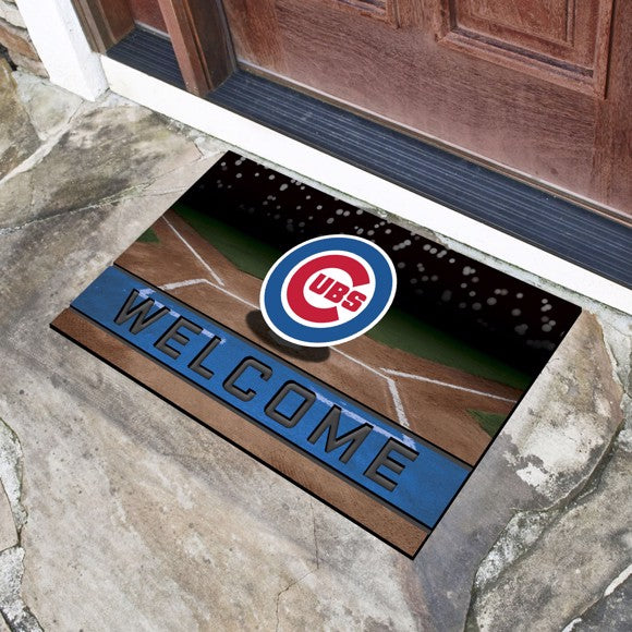 "MLB - Chicago Cubs Crumb Rubber Door Mat 18"" x 30"""
