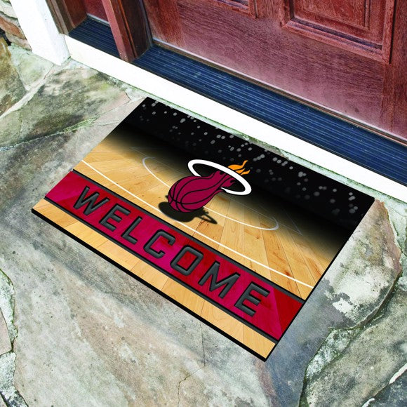 "NBA - Miami Heat Crumb Rubber Door Mat 18"" x 30"""