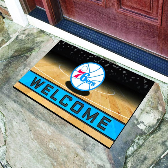 "NBA - Philadelphia 76ers Crumb Rubber Door Mat 18"" x 30"""