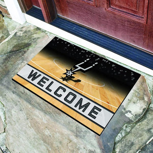"NBA - San Antonio Spurs Crumb Rubber Door Mat 18"" x 30"""