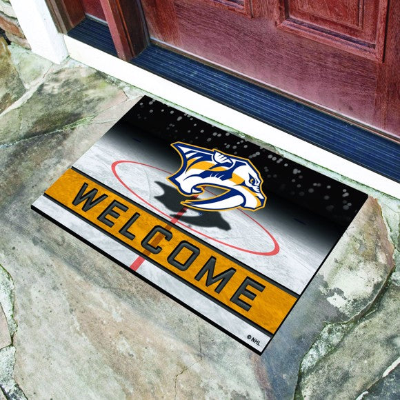 "NHL - Nashville Predators Crumb Rubber Door Mat 18"" x 30"""