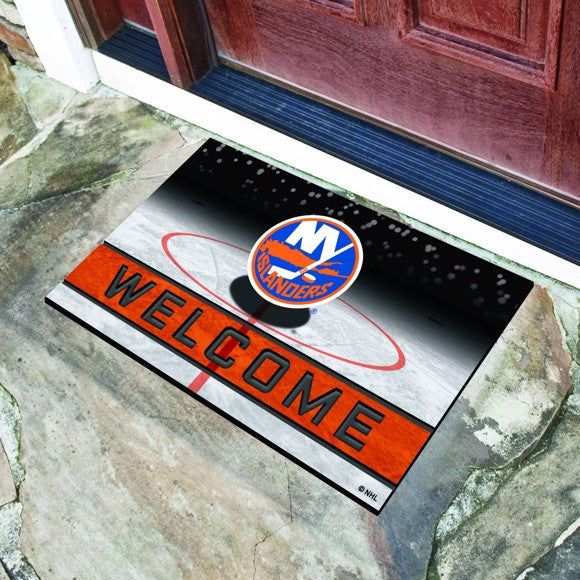 "NHL - New York Islanders Crumb Rubber Door Mat 18"" x 30"""