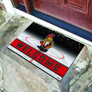 "NHL - Ottawa Senators Crumb Rubber Door Mat 18"" x 30"""