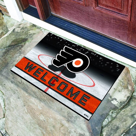 "NHL - Philadelphia Flyers Crumb Rubber Door Mat 18"" x 30"""