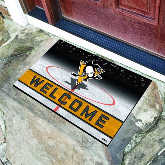 "NHL - Pittsburgh Penguins Crumb Rubber Door Mat 18"" x 30"""