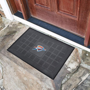 "NBA - Oklahoma City Thunder Vinyl Door Mat 19.5"" x 31.25"""