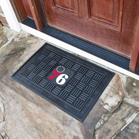 "NBA - Philadelphia 76ers Vinyl Door Mat 19.5"" x 31.25"""