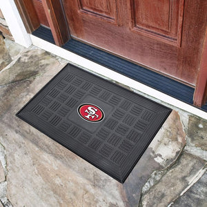 "NFL - San Francisco 49ers Vinyl Door Mat 19.5"" x 31.25"""