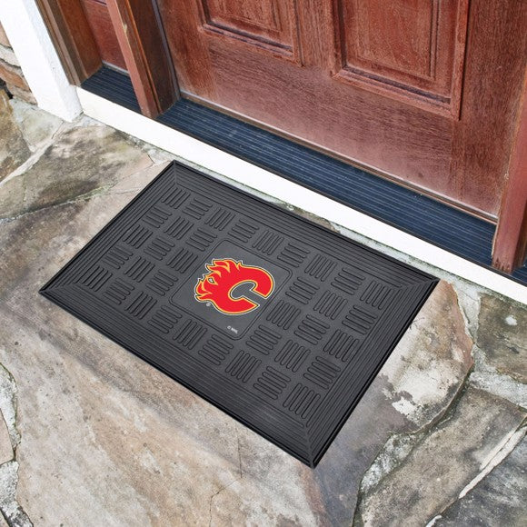NHL - Calgary Flames Vinyl Door Mat 19.5