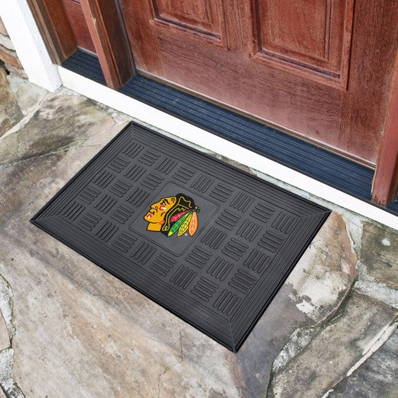 "NHL - Chicago Blackhawks Vinyl Door Mat 19.5"" x 31.25"""