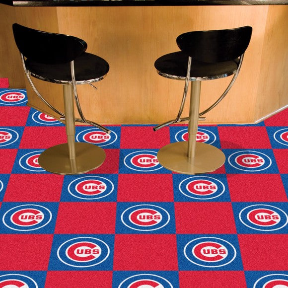"MLB - Chicago Cubs Team Carpet Tiles 18"" x 18"""