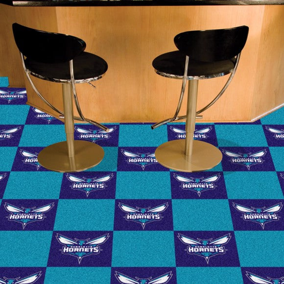 "NBA - Charlotte Hornets Team Carpet Tiles 18"" x 18"""