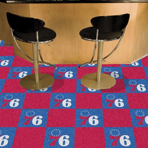 "NBA - Philadelphia 76ers Team Carpet Tiles 18"" x 18"""