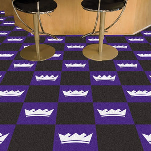 "NBA - Sacramento Kings Team Carpet Tiles 18"" x 18"""