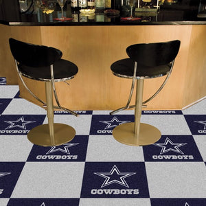 "NFL - Dallas Cowboys Team Carpet Tiles 18"" x 18"""