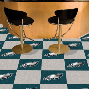 "NFL - Philadelphia Eagles Team Carpet Tiles 18"" x 18"""