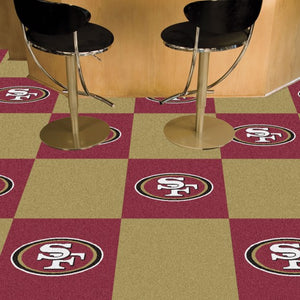 "NFL - San Francisco 49ers Team Carpet Tiles 18"" x 18"""