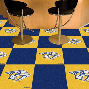 "NHL - Nashville Predators Team Carpet Tiles 18"" x 18"""