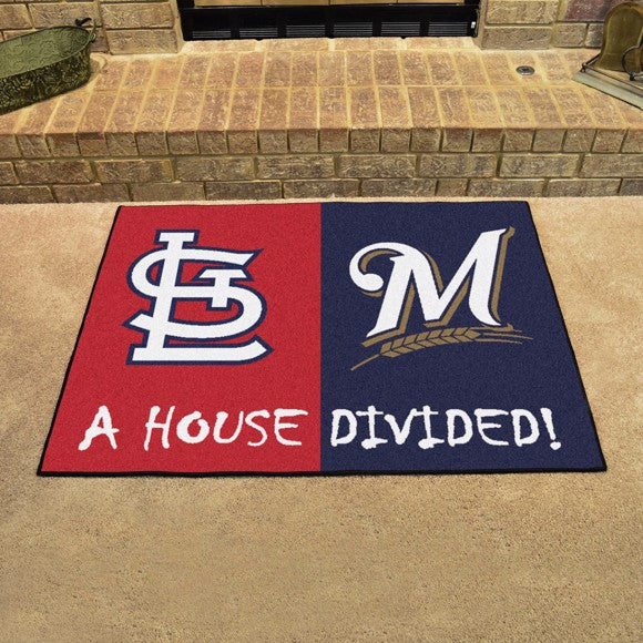 MLB House Divided - Cardinals / Brewers 33.75