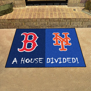 "MLB House Divided - Red Sox / Mets 33.75"" x 42.5"""