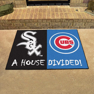 "MLB House Divided - White Sox / Cubs 33.75"" x 42.5"""