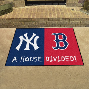 "MLB House Divided - Yankees / Red Sox 33.75"" x 42.5"""