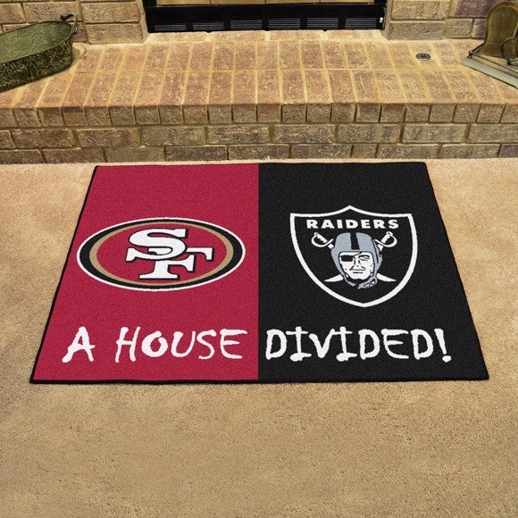 "NFL House Divided - 49ers / Raiders 33.75"" x 42.5"""
