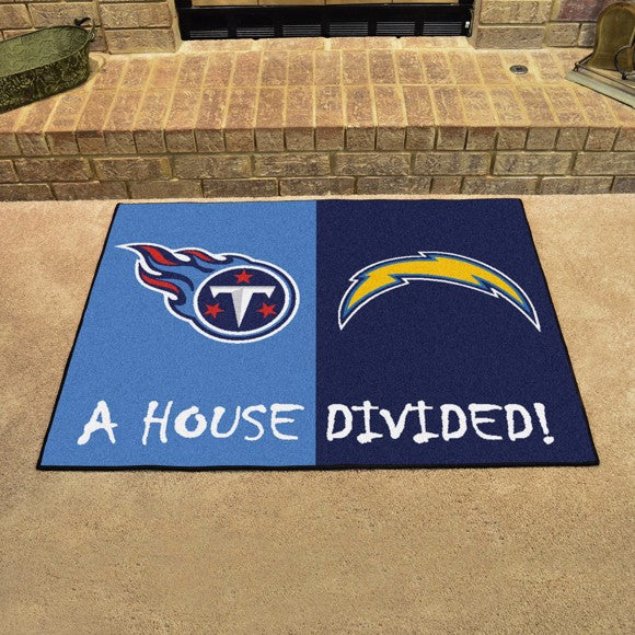 "NFL House Divided - Chargers / Titans 33.75"" x 42.5"""