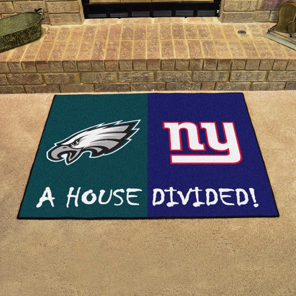 "NFL House Divided - Eagles / Giants 33.75"" x 42.5"""