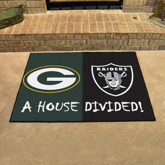"NFL House Divided - Packers / Raiders 33.75"" x 42.5"""