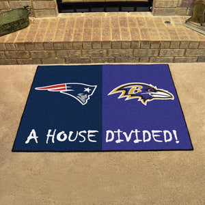 "NFL House Divided - Patriots / Ravens 33.75"" x 42.5"""