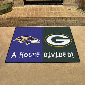 "NFL House Divided - Ravens / Packers 33.75"" x 42.5"""