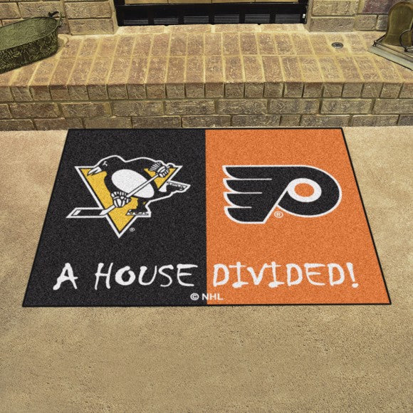 "NHL House Divided - Penguins / Flyers 33.75"" x 42.5"""