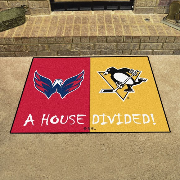 "NHL House Divided - Capitals / Penguins 33.75"" x 42.5"""