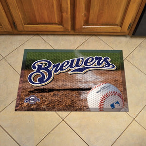 "MLB - Milwaukee Brewers Scraper Mat 19"" x 30"""