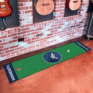 "NBA - Minnesota Timberwolves Putting Green Mat 18"" x 72"""