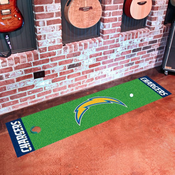 "NFL - Los Angeles Chargers Putting Green Mat 18"" x 72"""