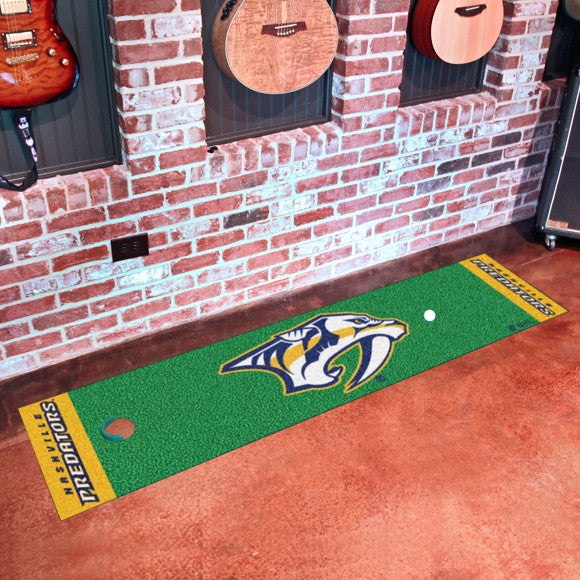 "NHL - Nashville Predators Putting Green Mat 18"" x 72"""