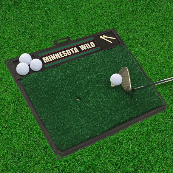 "NHL - Minnesota Wild Golf Hitting Mat 20"" x 17"""