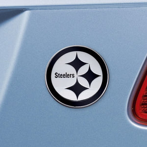 "NFL - Pittsburgh Steelers Emblem - Chrome 3"" x 3.2"""