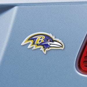 "NFL - Baltimore Ravens Emblem - Chrome 3"" x 3.2"""