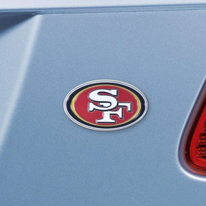 "NFL - San Francisco 49ers Emblem - Chrome 3"" x 3.2"""