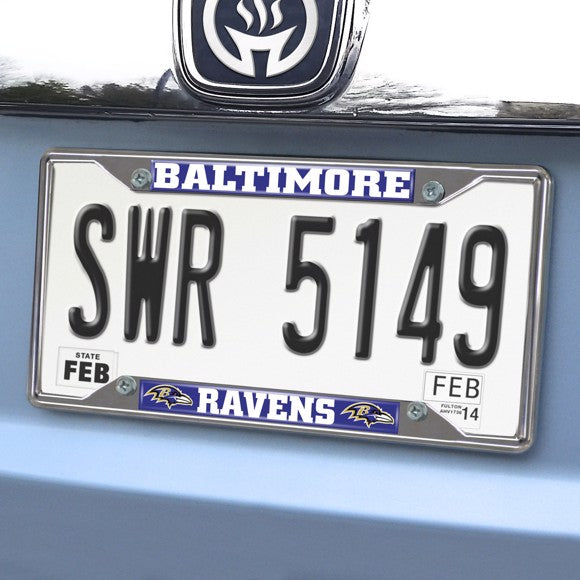 NFL - Baltimore Ravens License Plate Frame 6.25