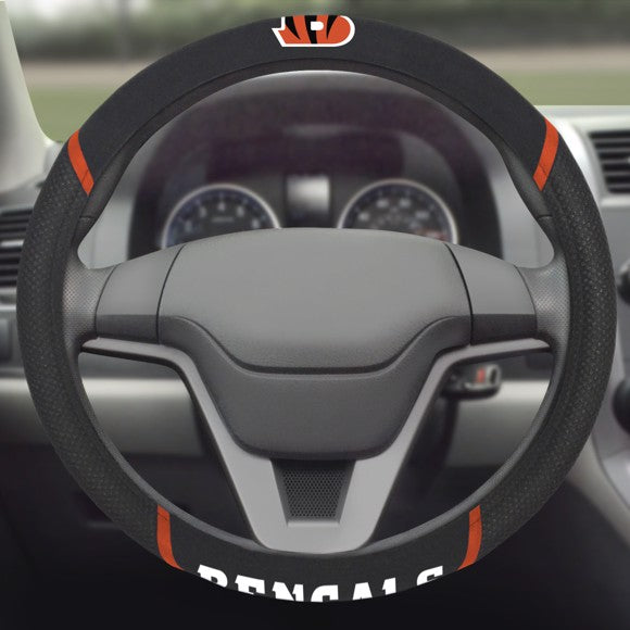 "NFL - Cincinnati Bengals Steering Wheel Cover 15"" x 15"""
