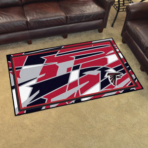 NFL - Atlanta Falcons 4x6 Plush Rug 4' x 6'