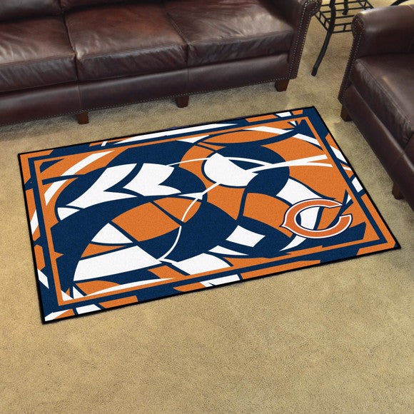 NFL - Chicago Bears 4x6 Plush Rug 4' x 6'