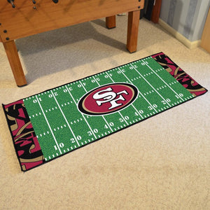 "NFL - San Francisco 49ers Football Field Runner 30"" x 72"""