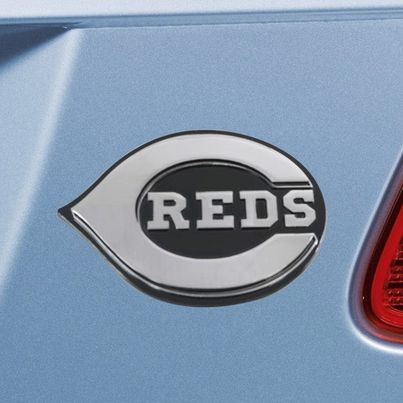"MLB - Cincinnati Reds Emblem - Chrome 3"" x 3.2"""
